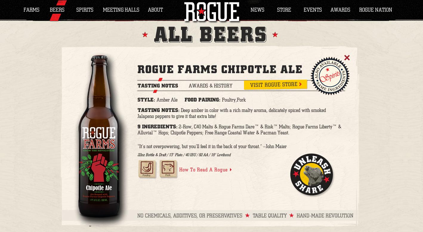Rogue Ales Website