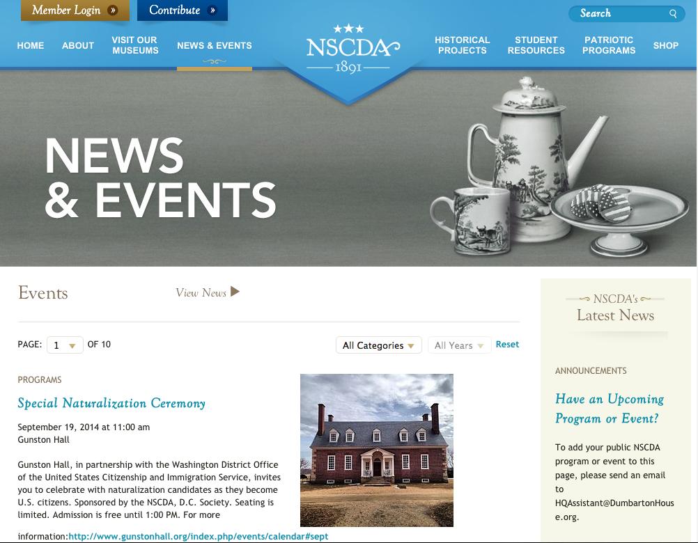 NSCDA Website