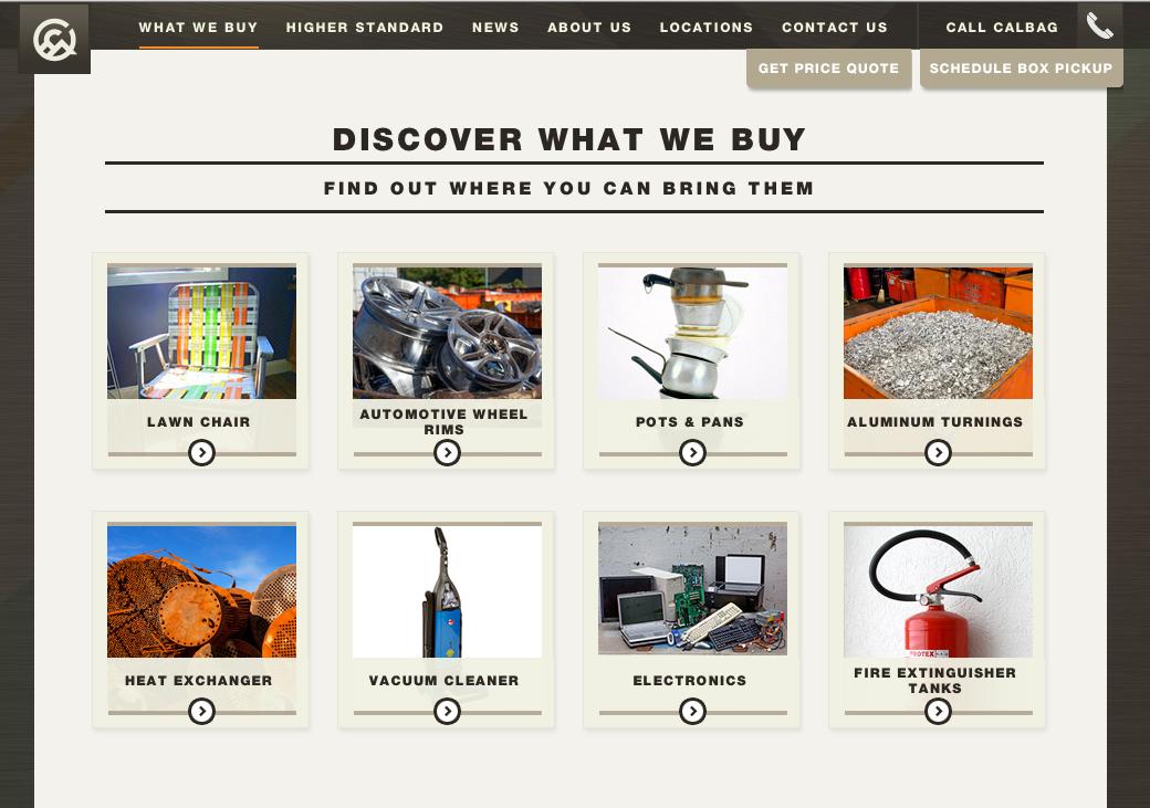 Calbag Metals website