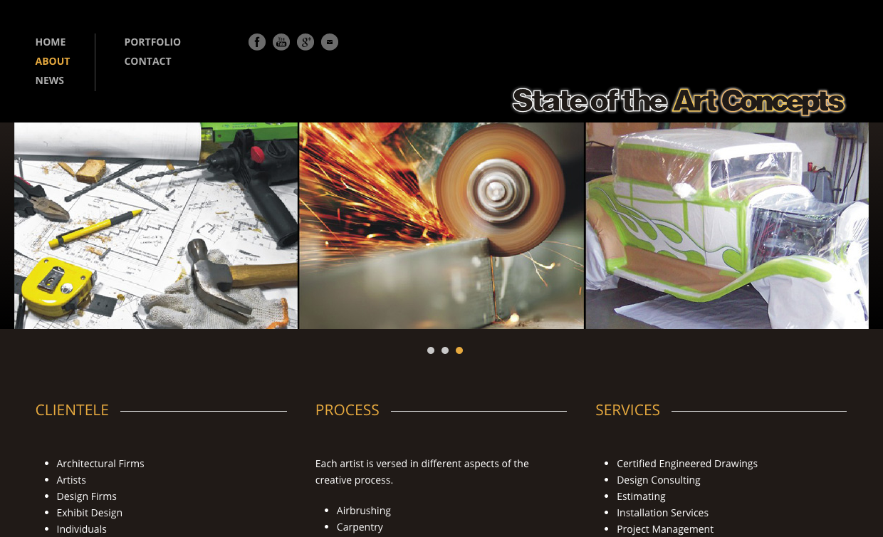 State of the Art Concepts website