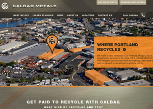 Calbag Metals website