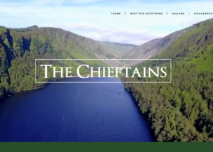 The Chieftains website homepage