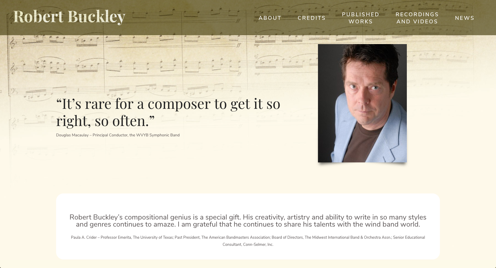 Bob Buckley website